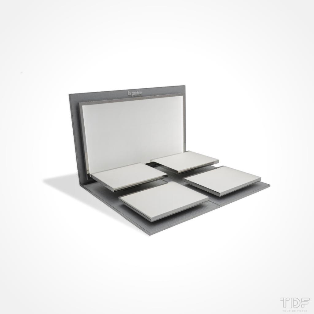 Luxury Cosmetic Display Units_La Prairie_TDF_Tailormade Visual Merchandising Manufacturer
