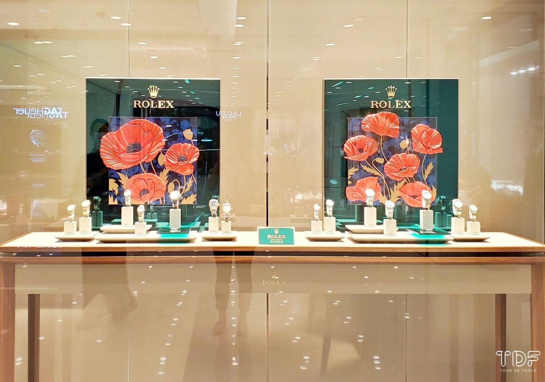 watch showcase window-store window display-TDF-visual merchandising manufacturer