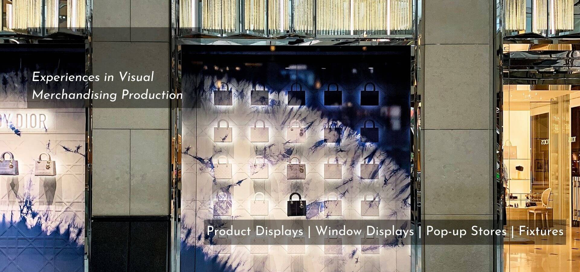 visual merchandising manufacturer production, window display, store window display, product display, pop-up store, TDF Asia