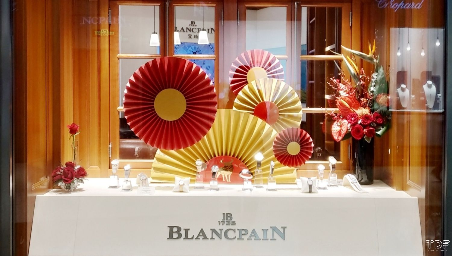 Store Window Blancpain,Window Display,TDF Visual Merchandising Production Manufacturer