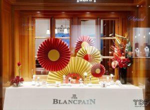 Store Window Blancpain,Window Display,TDF Visual Merchandising Production Manufacturer