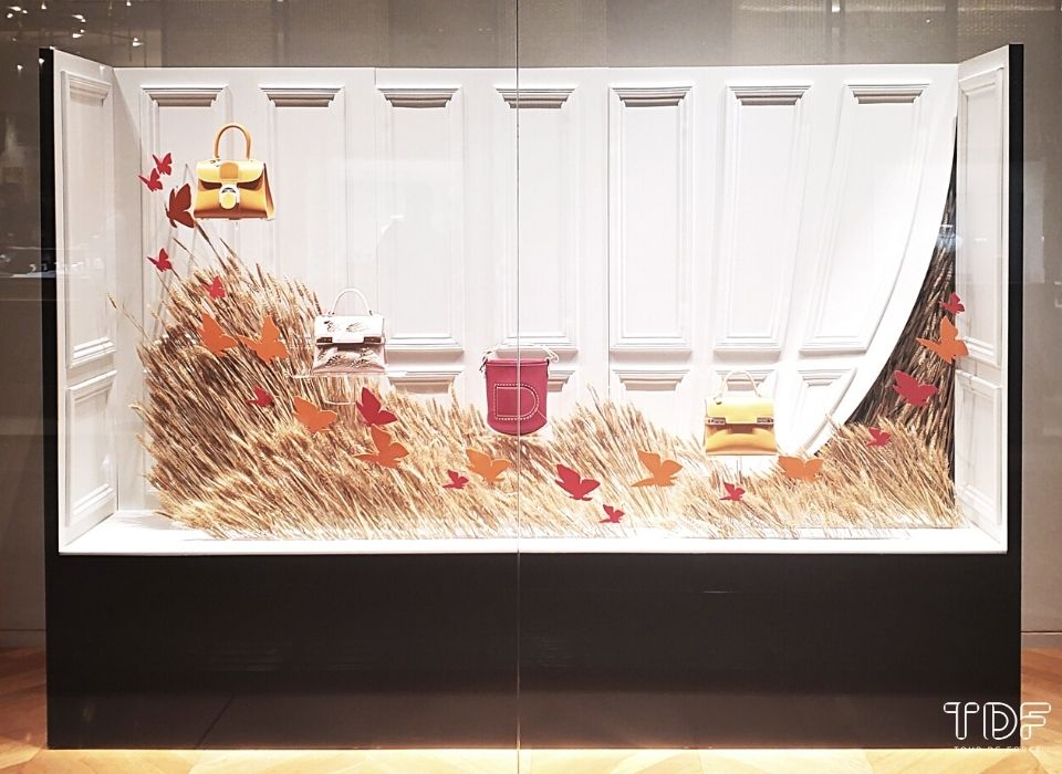 store window, Bally SS2021, TDF Visual Merchandising Production
