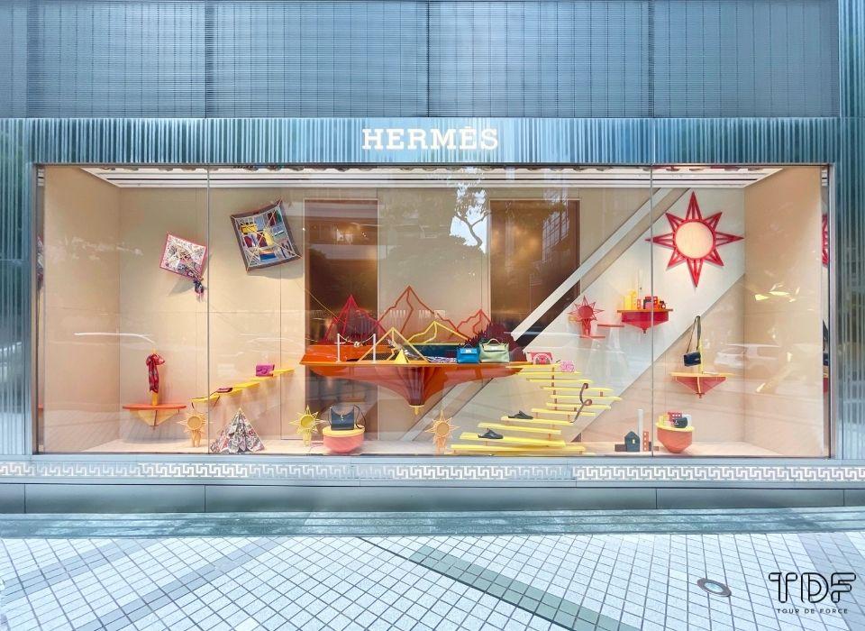 橱窗店面展示, 服装陈列道具产品, 品牌橱窗陈列, 奢侈品橱窗展示, Hermès store window, luxury retail store windows, window props