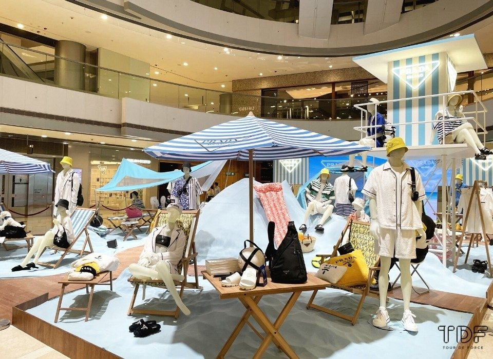 Prada Outdoor Pop-up Store, TDF Visual Merchandising Production