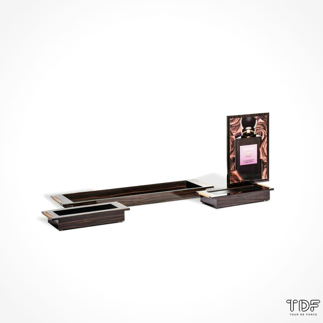 cosmetic tester unit display, TDF visual merchandising production, window display suppliers, product display suppliers