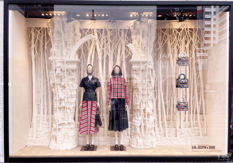 seasonal window displays, TDF visual merchandising