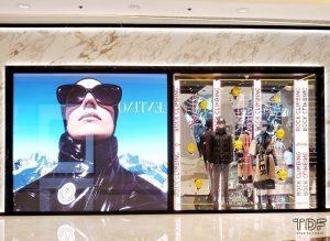 store window, moncler edit fall winter 2021